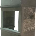 Конвекционный камин с топкой NordFlam Corno шлифованный с диким камнем. <br /><br />Стоимость облицовки с другой топкой по запросу по электронной почте energo1ama@gmail.com