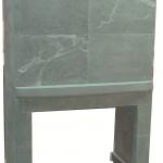 Высокий конвекционный камин с топкой NordFlam Corno, с корзиной для теплоаккумулирующих камней и тремя трубами для разводки теплого воздуха. <br /><br />Стоимость облицовки с другой топкой по запросу по электронной почте energo1ama@gmail.com